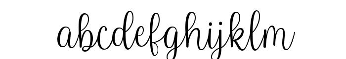 Baby Names Regular Font LOWERCASE