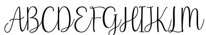 BabyNames-Regular Font UPPERCASE
