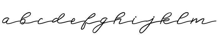 BadeganScript Font LOWERCASE