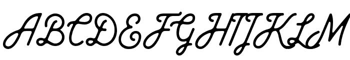 Baheula Clean Font UPPERCASE