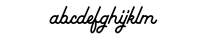 Baheula Clean Font LOWERCASE