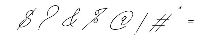 BahiytsahSlant-Italic Font OTHER CHARS