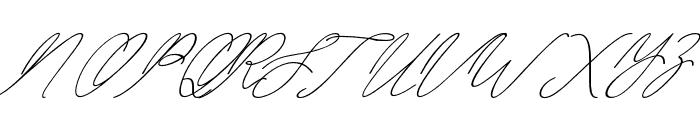 BahiytsahSlant-Italic Font UPPERCASE