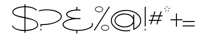 Ballado Thin Font OTHER CHARS
