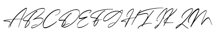 Ballerina Font UPPERCASE