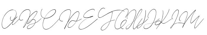 Balleys script Font UPPERCASE