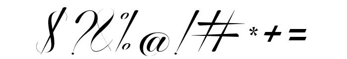 Ballistic Script Font OTHER CHARS