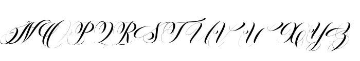 Ballistic Script Font UPPERCASE