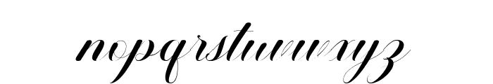 Ballistic Script Font LOWERCASE