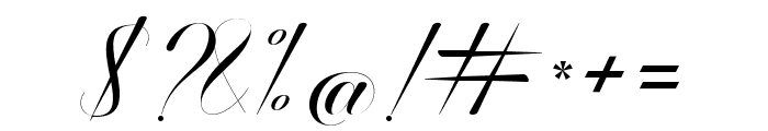 BallisticScript Font OTHER CHARS