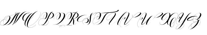 BallisticScript Font UPPERCASE
