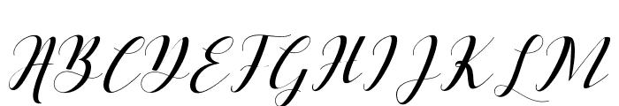 BallqisScript Font UPPERCASE