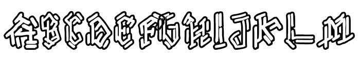 Bamboe Hutan Font UPPERCASE
