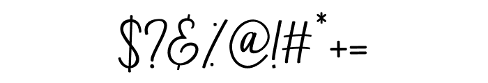 Bandilla Font OTHER CHARS