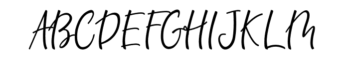 Bandilla Font UPPERCASE