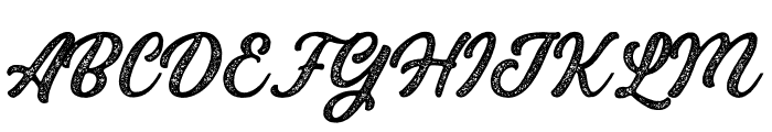Bandira Script Rough Font UPPERCASE