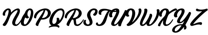 Bandira Script Font UPPERCASE