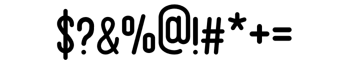 Bandonde Font OTHER CHARS