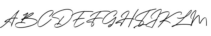 Bandung Signature Font UPPERCASE