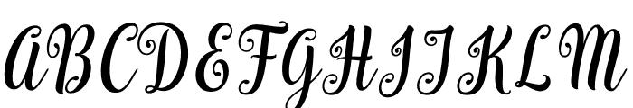 BargainScript Font UPPERCASE