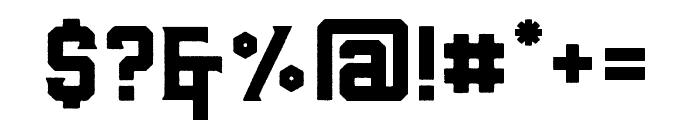 BarleyRough-Regular Font OTHER CHARS