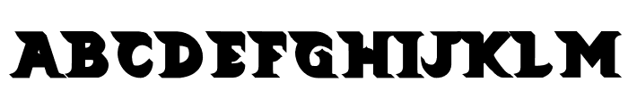 Barong Extrude Font UPPERCASE