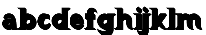 Barong Extrude Font LOWERCASE