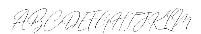 BarosakiSLant-Italic Font UPPERCASE