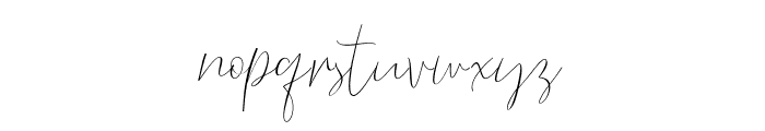 BarosakiScript-Regular Font LOWERCASE