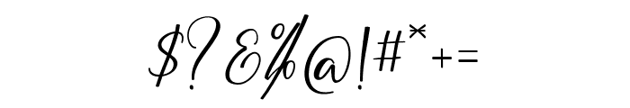 BarthleyScript Font OTHER CHARS