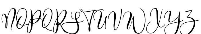 BarthleyScript Font UPPERCASE