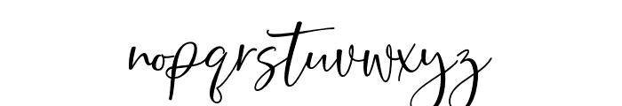 BarthleyScript Font LOWERCASE