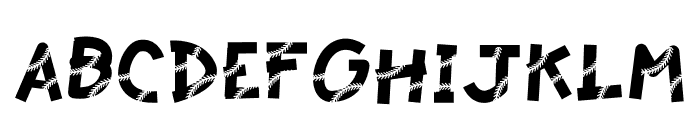 Baseball Lace Font UPPERCASE