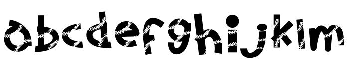 Baseball Lace Font LOWERCASE