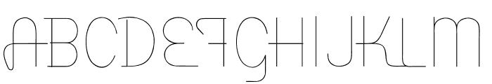 Baseline Script Unlined Font UPPERCASE