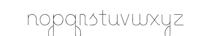 Baseline Script Unlined Font LOWERCASE