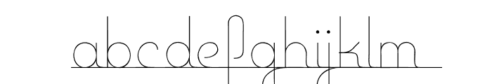 Baseline Script Font LOWERCASE