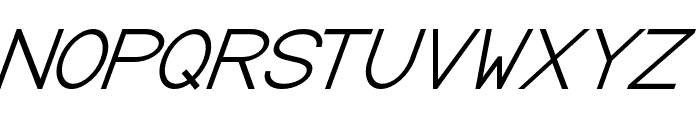 Baver Avalone Italic Font UPPERCASE