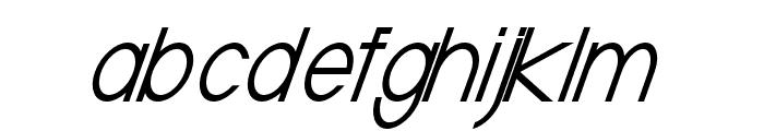 Baver Avalone Italic Font LOWERCASE