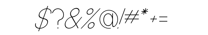 Baver Avalone Light Italic Font OTHER CHARS