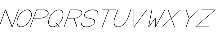 Baver Avalone Light Italic Font UPPERCASE
