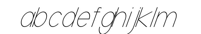 Baver Avalone Light Italic Font LOWERCASE