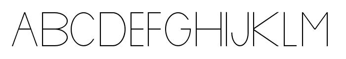 Baver Avalone Light Font UPPERCASE
