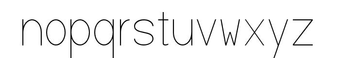 Baver Avalone Light Font LOWERCASE