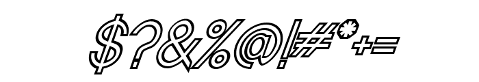 Baver Avalone Outline Italic Font OTHER CHARS