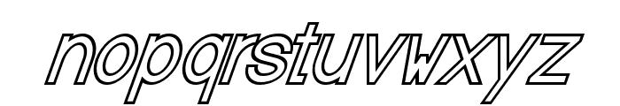 Baver Avalone Outline Italic Font LOWERCASE