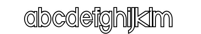 Baver Avalone Outline Regular Font LOWERCASE