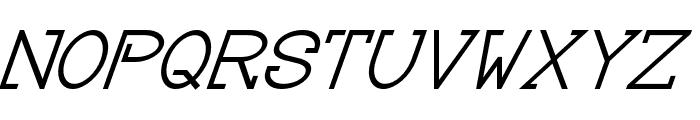 Baver Avalone Style Italic Font UPPERCASE