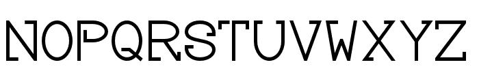 Baver Avalone Style Regular Font UPPERCASE