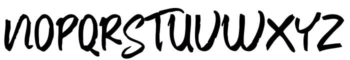 Baver Brush Font UPPERCASE